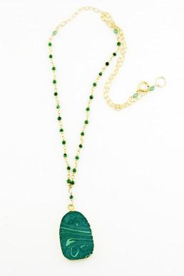 Malachite Pendant Necklace