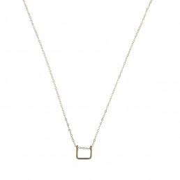 Minimalist square drop pendant necklcace