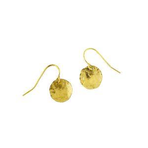 Malleate Hammered Disc Earrings