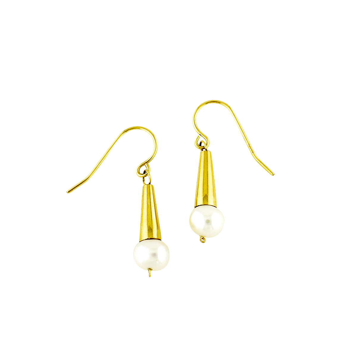Pacifica Pearl Gold Earrings