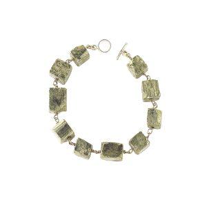 Pyrite Bracelet Sterling Silver