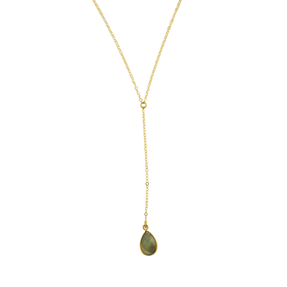 Labradorite Lariat Necklace