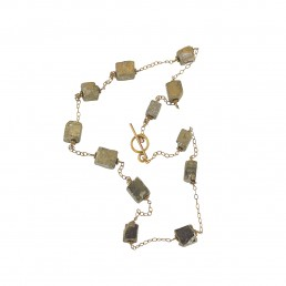 IllIllumine Pyrite Station Necklace
