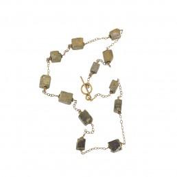 IllIllumine Pyrite Station Necklace