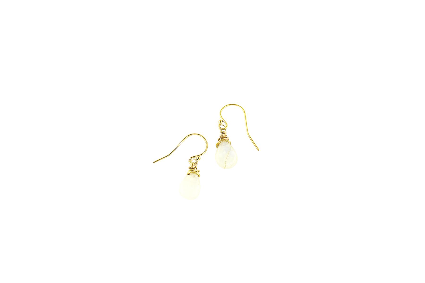 Moonstone long drop earrings