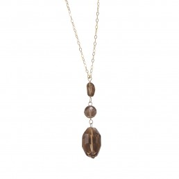 Smokey Quartz Y Necklace