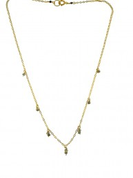 Illumine Dainty Pyrite Charm Necklace