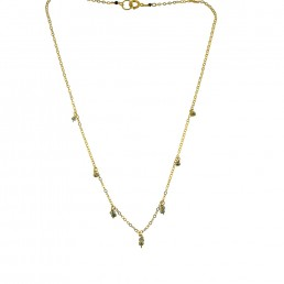 Illumine Dainty Pyrite Charm Necklace