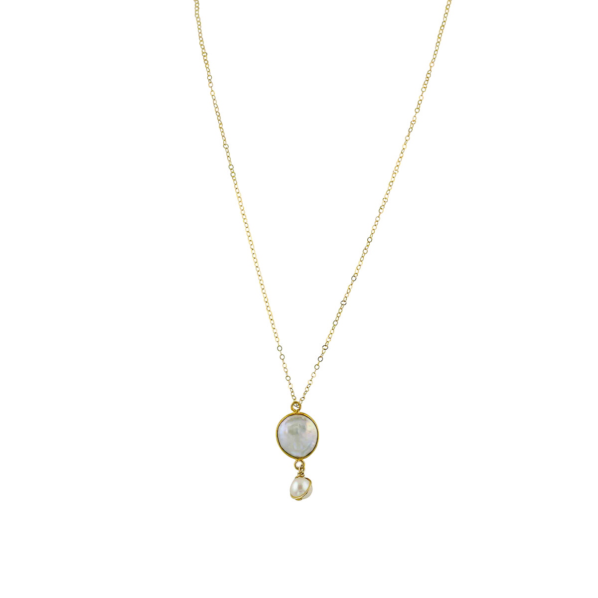 Pacifica Coin Pearl Pendant