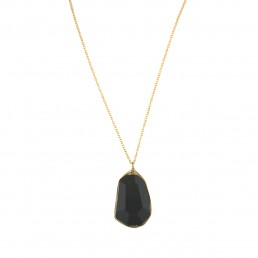 Bohemia Black Tourmaline Drop Necklace