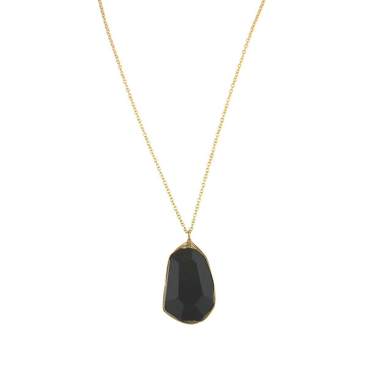 Bohemia Black Tourmaline Drop Necklace