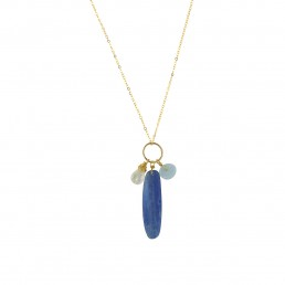 Kyanite Slice Charm Necklace