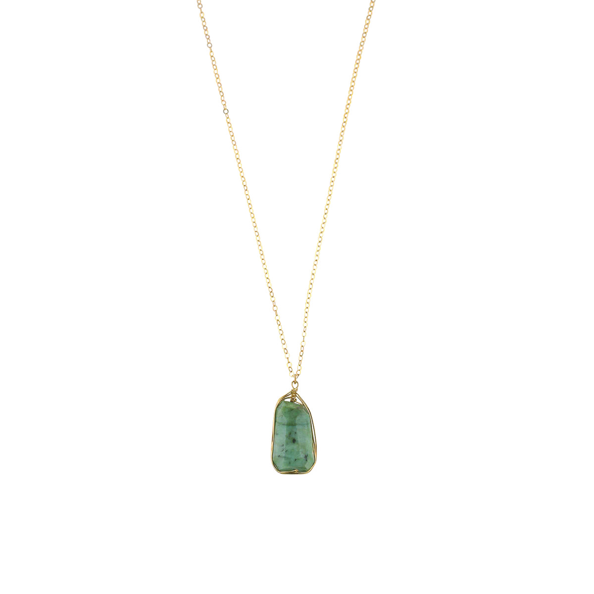 Bohemia African Turquoise Drop Necklace