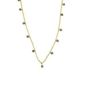 Dainty Labradorite Charm Necklace