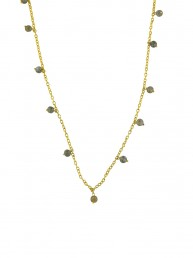 Dainty Labradorite Charm Necklace