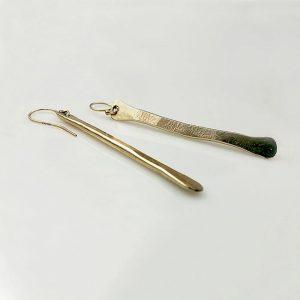 Hammered Long Stick Earrings