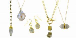 Raw gemstone jewelry