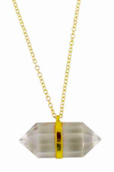 gold necklace power crystal