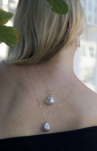gold pearl and gemstone necklaces